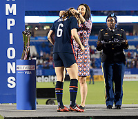 FRISCO, TX - MARCH 11: Andi Sullivan #6 of the United States receives her medal during a game between Japan and USWNT at Toyota Stadium on March 11, 2020 in Frisco, Texas.