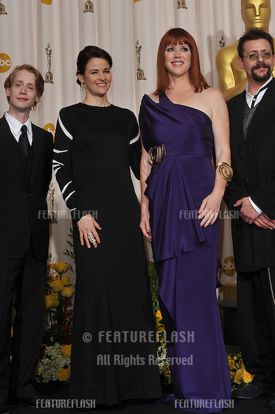 Macauley Culkin (left, Ally Sheedy, Molly Ringwald & Judd Nelson at the 82nd Academy Awards at the Kodak Theatre, Hollywood..March 7, 2010  Los Angeles, CA.Picture: Paul Smith / Featureflash.