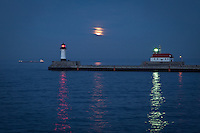 """Super Moon over Lake Superior""<br />