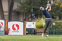 11th September 2020, Napa, California, USA;  Brandon Hagy of the United States tees off during the second round of the Safeway Open PGA tournament on September 11, 2020 at Silverado Country Club in Napa, CA.
