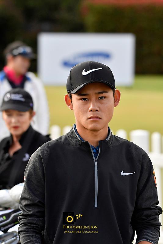 Kaito Onishi (大西魁斗)Japan in action during the Asia- Pacific Amateur Championship at Royal Wellington Golf Club, Wellington, New Zealand on Sunday 29 October.<br /> Photo by Masanori Udagawa. <br /> www.photowellington.photoshelter.com