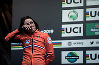 Lucinda Brand (NED) dissapointed after finishing 2nd place.<br /> <br /> Women's Elite race<br /> <br /> UCI 2019 Cyclocross World Championships<br /> Bogense / Denmark<br /> <br /> ©kramon