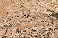 Jebel Nefusa, near Jadu, Libya - Abandoned Berber village, Stone Houses