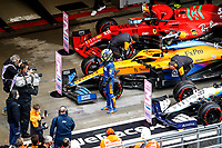 25th September 2021; Sochi, Russia; F1 Grand Prix of Russia  qualifying sessions;  NORRIS Lando gbr, McLaren MCL35M, celebrates his pole position during the Formula 1 VTB Russian Grand Prix