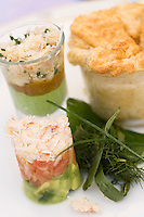"""Europe/France/Bretagne/56/Morbihan/Belle-Ile/ Sauzon:  Crabe soufflé recette de Christophe Didoune  Chef de  l 'Hotel-Restaurant """" Roz-Avel"""""""