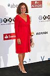 """King Felipe of Spain and Queen Letizia of Spain attend 'XIII EDICIÓN DE LOS PREMIOS INTERNACIONALES DE PERIODISMO 2013 Y CONMEMORACIÓN DEL 25º ANIVERSARIO DEL DIARIO """"EL MUNDO"""" at The Westin Palace Hotel. <br /> Ana Botella<br /> October 20, 2014. (ALTERPHOTOS/Emilio Cobos)"""