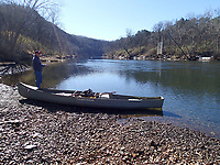Stopping now and then to fish from shore is a good tactic       Feb. 23 2021    when floating and fishing on the White River below Beaver Dam.<br />(NWA Democrat-Gazette/Flip Putthoff)