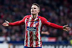 Atletico de Madrid Kevin Gameiro celebrating a goal during Europa League match between Atletico de Madrid and FC Copenhague at Wanda Metropolitano in Madrid , Spain. February 22, 2018. (ALTERPHOTOS/Borja B.Hojas)