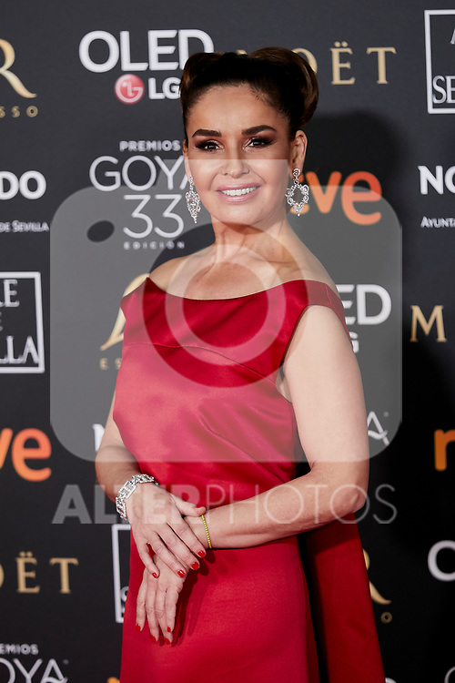 Blanca Marsillach attends to 33rd Goya Awards at Fibes - Conference and Exhibition  in Seville, Spain. February 02, 2019. (ALTERPHOTOS/A. Perez Meca)