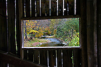 MacMillan Covered Bridge in Autumn, Grafton, Vermont, USA