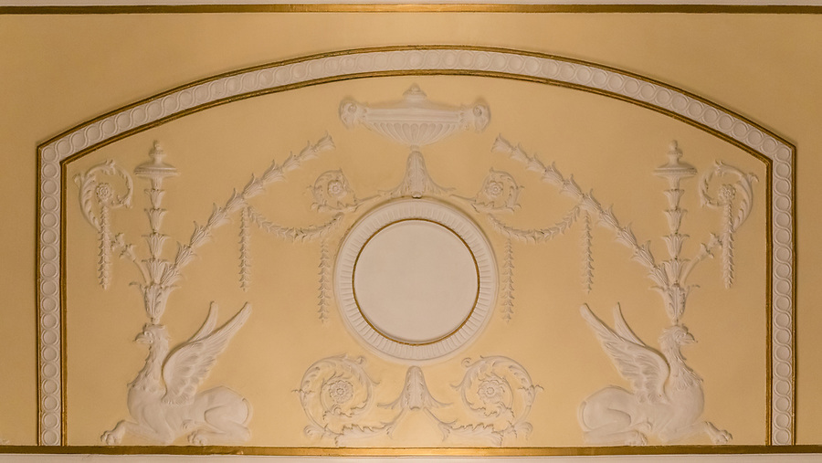 Ceiling detail in the Drawing Room.