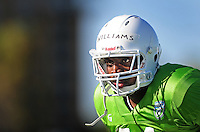 Sept. 16, 2009; Casa Grande, AZ, USA; California Redwoods linebacker Worrell Williams during training camp at the Casa Grande Training Facility & Performance Institute. Mandatory Credit: Mark J. Rebilas-