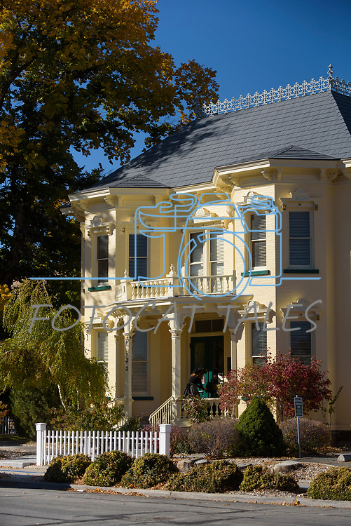 Participants tour the Rinckel mansion during the Carson City Ghost Walk on the historical west side of the city Saturday, Oct. 21, 2017.<br /> Photo by Candice Nyando/Nevada Momentum