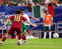 Omar Bravo (19) of Mexico tries to get through the Portuese defense. Portugal defeated Mexico 2-1 in their FIFA World Cup Group D match at FIFA World Cup Stadium, Gelsenkirchen, Germany, June 21, 2006.