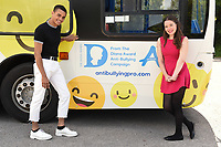 Layton Williams and Juliette Burton<br /> at the launch of anti-bullying #BeNiceBus with The Diana Award, Dulwich, London. <br /> <br /> <br /> ©Ash Knotek  D3275  07/06/2017