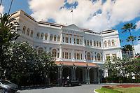 Colonial Raffles Hotel Facade, Singapore