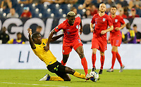 NASHVILLE, TENN - JULY 03: Gyasi Zardes #9 during a 2019 CONCACAF Gold Cup Semifinal match between the United States and Jamaica at Nissan Stadium on July 03, 2019 in Nashville, Tennessee.