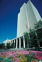 Latter Day Saints (Mormon) office building at Temple Square in Salt Lake City, Utah.  architecture, religions, Christianity,. Salt Lake City Utah.