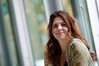 """La regista ed attrice francese Agnes Jaoui posa durante un photocall per la presentazione del suo nuovo film """"Quando meno te lo aspetti"""" a Roma, 31 maggio 2013.<br /> French director and actress Agnes Jaoui poses during a photocall for the presentation of her new movie """"Au bout du comte"""" (""""Under the rainbow"""") in Rome, 31 May 2013.<br /> UPDATE IMAGES PRESS/Riccardo De Luca"""