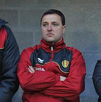 Qualification Women's Euro 2013 - Belgium - Iceland ; Belgie - Ijsland ; Armand Melis Stadion Dessel :.trainer coach Ives Serneels..foto DAVID CATRY / Vrouwenteam.be