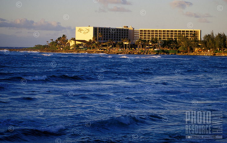 Turtle bay hotel and resort as seen from the water on Oahu's north shore