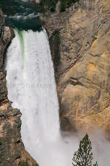 Grand Canyon of the Yellowstone and Lower Falls from Uncle Tom's Trail,  Yellowstone National Park