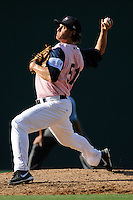 Pitcher John Ely (51) of the Greenville Drive in a game against the West Virginia Power on Sunday, May 11, 2014, at Fluor Field at the West End in Greenville, South Carolina. Greenville won, 9-6.  (Tom Priddy/Four Seam Images)