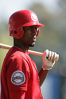 July 12 2009: Myrio Richard of the Vancouver Canadians before game against the Boise Hawks at Nat Bailey Stadium in Vancouver,BC..Photo by Larry Goren/Four Seam Images