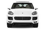 Car photography straight front view of a 2017 Porsche Cayenne - 5 Door SUV Front View
