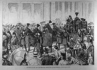Funerailles de l'ex-maire Bernard , le 15 juillet 1876