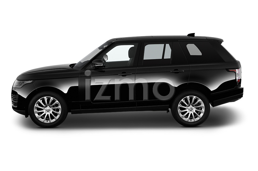 Car Driver side profile view of a 2019 Land Rover Range-Rover HSE 5 Door SUV Side View