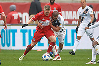 Bridgeview, IL - Saturday April 14, 2018: Bastian Schweinsteiger, Perry Kitchen during a regular season Major League Soccer (MLS) match between the Chicago Fire and the LA Galaxy at Toyota Park.  The LA Galaxy defeated the Chicago Fire by the score of 1-0.