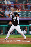 Erie SeaWolves Isaac Paredes (18) at bat during an Eastern League game against the Portland Sea Dogs on June 17, 2019 at UPMC Park in Erie, Pennsylvania.  Portland defeated Erie 6-3.  (Mike Janes/Four Seam Images)