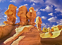 "Rock Garden formation. Grand Staircase-Escalante National Monument, Utah.  Clouds have been added to the sky. Please caption as ""Photo Illustration"""