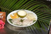 Cuba, Krokodilfarm  in La Boca auf der Halbinsel Zapata, Krokodilfleisch im Restaurant