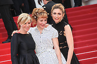 CHANTAL LADESOU, JULIE DEPARDIEU AND JULIE GAYET - RED CARPET OF THE FILM 'LA FILLE INCONNUE' AT THE 69TH FESTIVAL OF CANNES 2016
