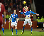 Aberdeen v St Johnstone…10.12.16     Pittodrie    SPFL<br />David Wotherspoon and Jayden Stockley<br />Picture by Graeme Hart.<br />Copyright Perthshire Picture Agency<br />Tel: 01738 623350  Mobile: 07990 594431