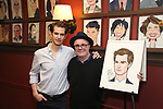 Andrew Garfield and Nathan Lane attend the Sardi's portrait unveiling for Andrew Garfield at Sardi's on May 31, 2018 in New York City.