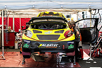 The racing garage of Andy Scott, Peugeot 208. BRX Supercars between qualifiers during the 5 Nations BRX Championship at Lydden Hill Race Circuit on 31st May 2021
