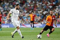 Real Madrid´s Nacho (L) during Santiago Bernabeu Trophy match at Santiago Bernabeu stadium in Madrid, Spain. August 18, 2015. (ALTERPHOTOS/Victor Blanco)