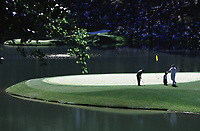 5th April 2000, Augusta GA, USA; Tiger Woods in Augusta plays in the Par 3 Tournament