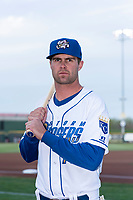 Omaha Storm Chasers outfielder Bubba Starling (11) poses for a photo before a Pacific Coast League game against the Memphis Redbirds at Werner Park on April 26, 2019 in Omaha, Nebraska. (Zachary Lucy/Four Seam Images)