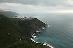 Village de Corniglia sous l'orage. Parc national des Cinque Terre. Ligurie. Italie.