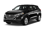 2018 Hyundai Tucson SE 5 Door Suv Angular Front stock photos of front three quarter view