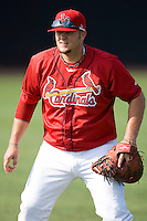 Matthew Adams #54 of the Johnson City Cardinals at Howard Johnson Stadium June 27, 2009 in Johnson City, Tennessee. (Photo by Brian Westerholt / Four Seam Images)