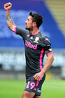 Pablo Hernández of Leeds United celebrates at full time during the Sky Bet Championship match between Swansea City and Leeds United at the Liberty Stadium in Swansea, Wales, UK. Sunday 12 July 2020