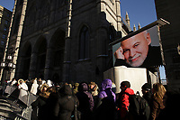 Crowd gather outside Notre-Dame Basilica, January 21, 2016 to see Rene Angelil laying in state before his funeral tomorrow Jan 22.<br /> <br /> <br /> <br /> <br /> <br /> <br /> <br /> <br /> <br /> <br /> .