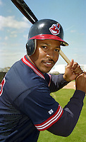 Cleveland Indians Thomas Howard (33) during Spring Training 1993 at Chain of Lakes Park in Winter Haven, Florida.  (MJA/Four Seam Images)