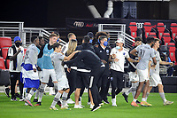 WASHINGTON, DC - NOVEMBER 8: Montreal Impact celebrating the victory after a game between Montreal Impact and D.C. United at Audi Field on November 8, 2020 in Washington, DC.