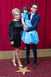 © Licensed to London News Pictures . 16/05/2015 .  The Palace Hotel , Manchester , UK . Charlotte Bellamy , Amelia Flanagan and Mark Charnock . The red carpet at the 2015 British Soap Awards , The Palace Hotel , Oxford Road , Manchester . Photo credit : Joel Goodman/LNP